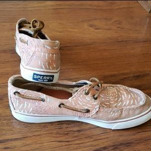 Sperry Pink boat shoes